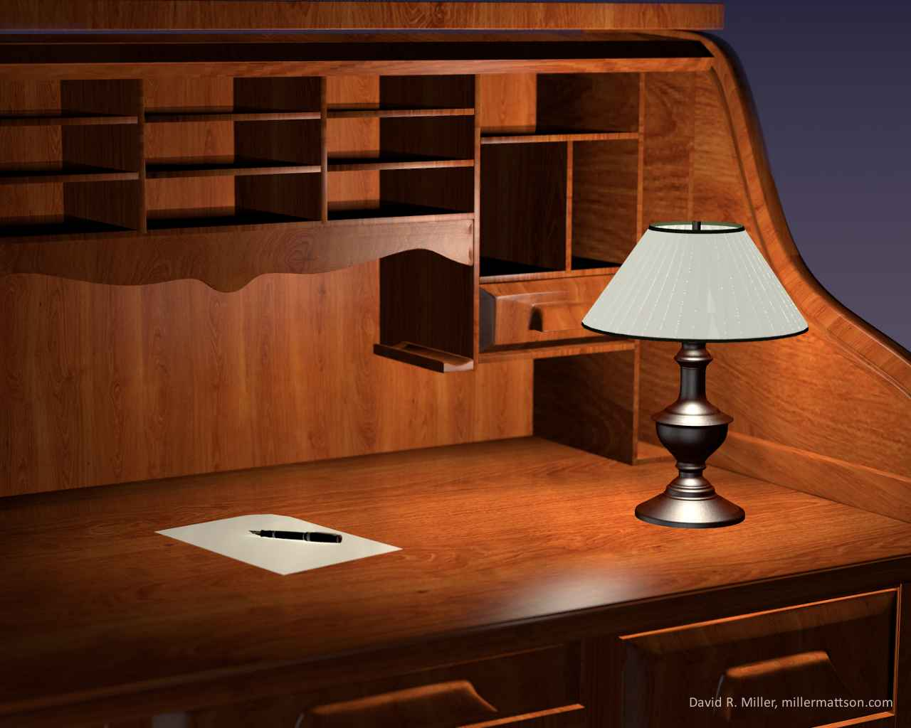 Roll Top Desk Wallpaper | Dave Miller Blog