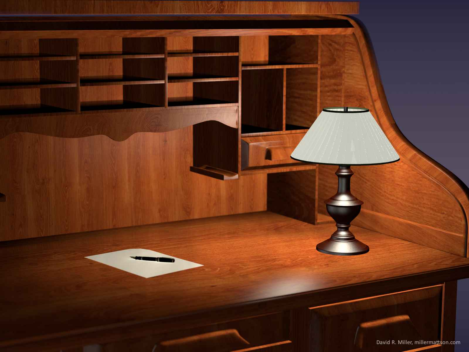Roll top desk wallpaper dave miller blog for 3d room wallpaper background
